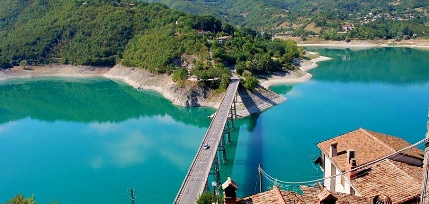 Cammino di San Benedetto: il lago del Turano