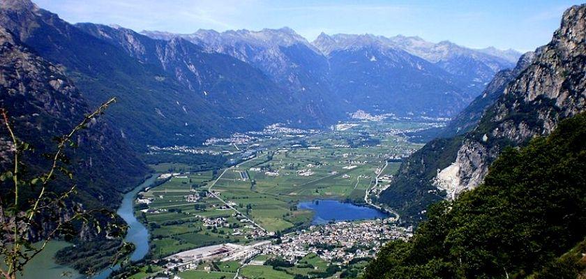 Il tracciato della Via Priula: la Valchiavenna