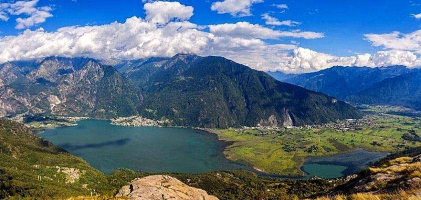 Il lago di Mezzola e Pian di Spagna